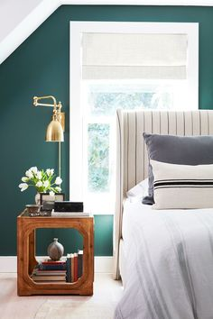 Stripes + green wall