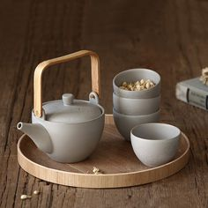Bucket Floral Style Of Tea Sets Scandinavian Minimalist Cream-colored
