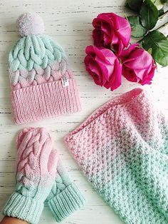 Купить Мятно розовый комплект с градиентом 2 - мятный, мятный цвет, розовый, нежно розовый