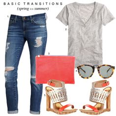 Spring to summer transition outfit