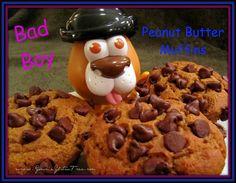 "Gimme Gluten Free: ""Bad Boy"" Peanut Butter Chocolate Chip Muffins"