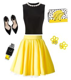 """""""Bumblebee Daisy"""" by aggie-tessa on Polyvore featuring Simone Rocha, Philipp Plein, Zara, Casetify and Marc by Marc Jacobs"""