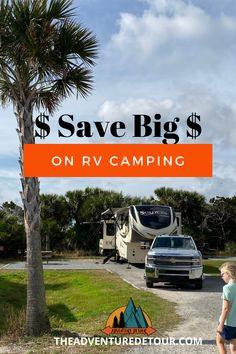Looking for ways to save on your next RV camping trip? Overwhelmed by all the camping discount cards and camping memberships? In this guide, Full-Time RVers share tips to save big on RV camping. We will look at how to save money by choosing the best camping styles: boondocking, state parks, national parks, Corps Of Engineers, RV parks, and RV resorts. We will also look at the difference between camping discount cards and camping memberships. View the guide now! #savemoneycamping Camping Must Haves, Rv Camping Tips, Camping For Beginners, Camping Style, Rv Tips, Explore Travel, Rv Travel, Rv Hacks, Get Outdoors