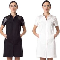 Shirt dress ALEXA now available in black and white - www.likovstyle.com - shirt dress is one of the most versatile & trendy piece you should invest in!!