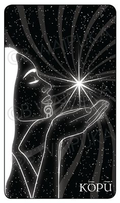 KUPU: Venus, the morning star.  2015 current project - Maori Oracle Cards -- NIU, He Tangata Matauhi: Voices of the Ancestors.