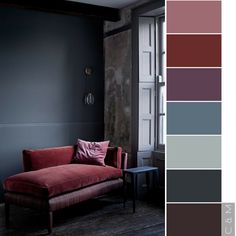 Bedroom red, bedroom colors, living room color schemes, color pallets, in. House Exterior Color Schemes, Grey Exterior, Living Room Color Schemes, House Paint Exterior, Modern Color Schemes, Exterior Shutters, Interior Color Schemes, House Siding, Modern Exterior