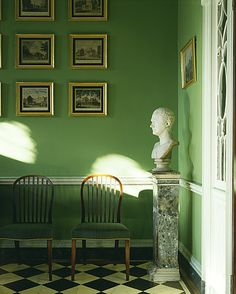 American Federal style in Baltimore ~ Homewood House 1802 - 1806 I never tire of this green Federal Architecture, Federal Style House, Interior Styling, Interior Decorating, Green Home Decor, Green Rooms, House In The Woods, Beautiful Interiors, Decoration