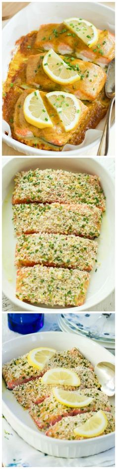 This easy and elegant Garlic Panko Salmon recipe has a delicious and flavourful crunchy Panko crust with a moist and tender salmon center.