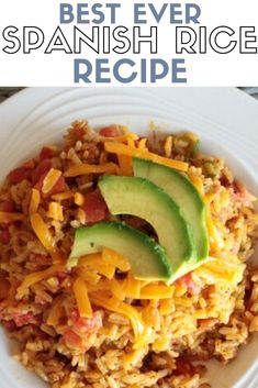 Make the Best ever Spanish Rice you have ever tasted! This easy recipe is the perfect side to a Mexican dish. Click here for the pressure cooker recipe. #thecraftyblogstalker #spanishrice #mexicanrice #mexicanfood #mexicanrecipe #rice #easyrecipes
