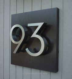 Unit/house number plates - i'm usually bored with the normal house numbers but this is nice