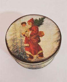 Plätzchendose / Keksdose Weihnachtsmann nostalgie vintage Blech Xmas Weihnachten