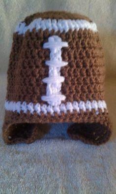 football crotchet hat