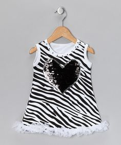 Take a look at this Zebra Heart Dress - Infant by Divas & Pearls on #zulily today!