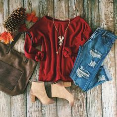 This outfit is calling your name! It's perfect for those casual fall days!  @bcfootwear #shopimpressions #BCstyle #fallfavorites #musthave #casual #getinmycloset