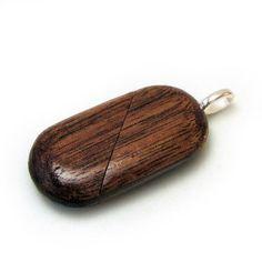 Illusionist Locket Walnut Wood