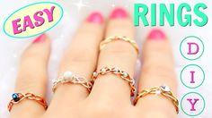 5 DIY rings | Adjustable & No Tools!!! | DIY Easy rings