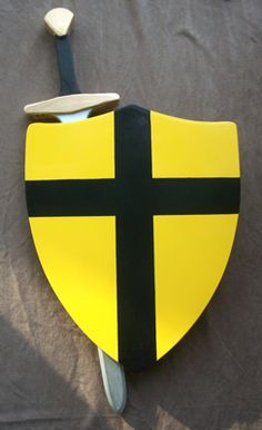Knightly Sword and Shield Combination. Available at Medieval Fantasies Company.