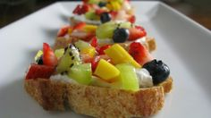 Fresh #Fruit #Bruschetta 15 #Italian Bruschetta Recipes | Yummy Recipes