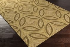 Perspective Area Rug | Gold Geometric Rugs Hand Tufted | Style PSV45