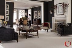 SmartStrand Silk™ - Carpet - dark floorboards , lighter carpet