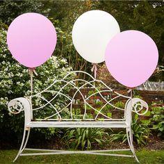Riesen Luftballons pink und weiß