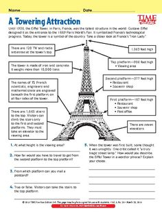 A Towering Attraction French Days, French Summer, English Lessons For Kids, French Lessons, Ways Of Learning, Kids Learning Activities, France For Kids, France Craft, France Country