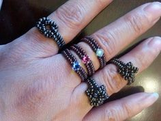 Fun Beaded Stackable Rings Handmade jewelry by Mariel. MarielBeadsandBeyond channel is dedicated to make step by step video tutorials of Handmade Jewelry, Le...