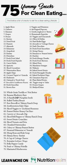 clean eating snacks list
