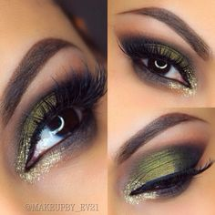 Olive green with gold accent
