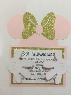 Minnie Mouse Invitations/Mickey Mouse/Baby Shower/Birthday by KikiDesignsCreations on Etsy