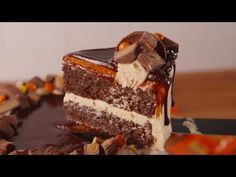 Looking for the best Reese's cake ever? This Reese's Explosion Cake is insane.