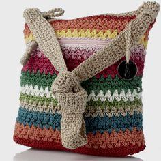 Gorgeous pre-made crochet bag on QVC. Inspirational :)