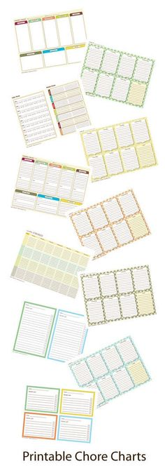 Free Printable Chore Charts - Choose Your Favorite Design