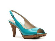Bandolino Kastle Patent Sandal Peep Toes Pumps & Heels Women's Shoes - DSW. $49.95