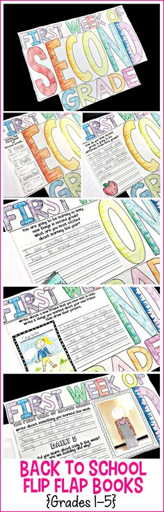 Back to School Flip Flap Books: grades 1-5