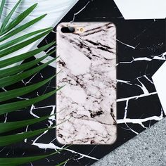 Coque iPhone 7 Plus Imprimé Marbre - Blanc