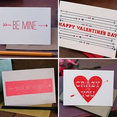 Tabletop Made has so many sweet and lovely Valentine's Day letterpress cards