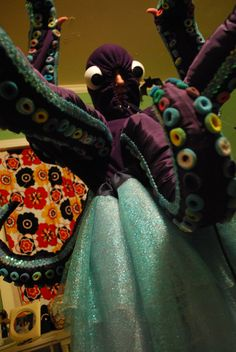 another pic of the octopus costume Men's Costumes, Theatre Costumes, Carnival Costumes, Civic Theatre, Theater, Octopus Costume, Hair Ties, Hearth, The Little Mermaid
