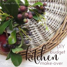 DIY budget kitchen make-over - Shabby Art Boutique (White Knight tile cleaner)