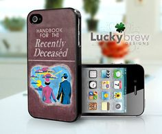 iPhone 4 4s Hard Case  Beetlejuice Handbook by LuckybrewDesigns, $19.88    I need this shit!