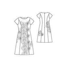 Great princess-line dress -- flattering for every figure!