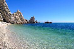 Riviera del Conero spiaggia delle Due Sorelle  #sirolo