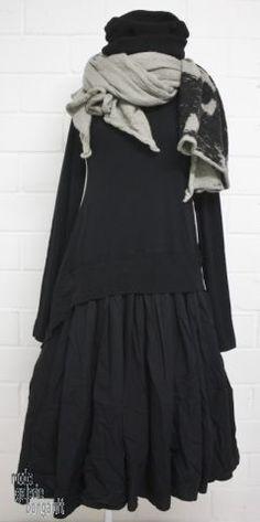 "www.modegalerie-bongardt.de - rundholz mode, rundholz black label, rundholz dip Rundholz black label Winter 2016 Mega-Kleid ""cotton-popline-mix""...in 2 verschiedenen Farben ! 3720907-W16"