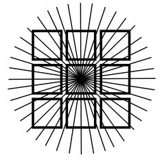The squares in this optical illusion are actually square, though they appear distorted. The distortions are consistent with how squares in the real world would change their appearance if one were moving forward toward the center point.