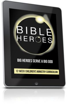 Free Children's Ministry Lesson that teaches kids about heroes from the Bible.  This lesson is from the Bible Heroes 12-Week Children's Ministry curriculum series.