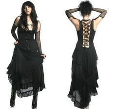 Lip Service - Pere Lachaise Long Dress - Black. From the Rest in Peace line.  this is really cool!
