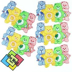 Lot Of 6 (5+1) Care Bear Kids Baby Cute Embroidered Iron/Sew On Patch