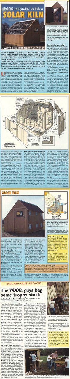 ❧ Solar kiln