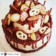 @cinzia_cindy with @repostapp  Attenzione! Foto al alto tenore glicemico! #chocolate #dripcake #chocolateporn #chocolategridtr #ilfornoincantato
