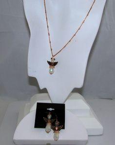 Copper angel pendant sets